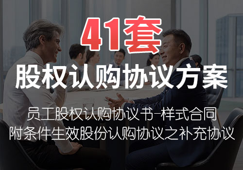 41套股权认购协议方案
